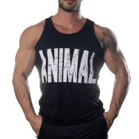 Animal Tank Top Atlet Siyah