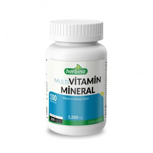 Herbina Multivitamin Mineral 1250 mg 200 Tablet