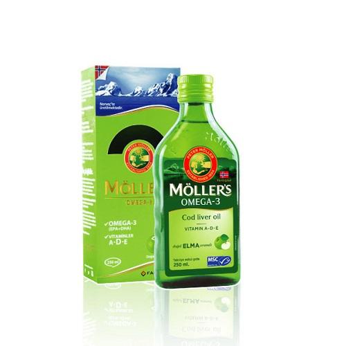 Möller's Omega 3 Cod Liver Oil Elma Aromalı 250 ml