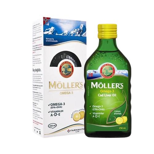 Möller's Omega 3 Cod Liver Oil Limon Aromalı 250 ml