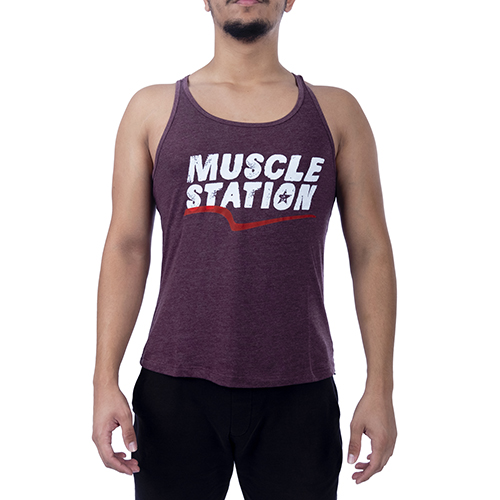 Muscle Station Tank Top Atlet Bordo