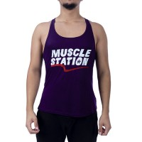 Muscle Station Tank Top Atlet Mor