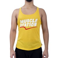 Muscle Station Tank Top Atlet Sarı