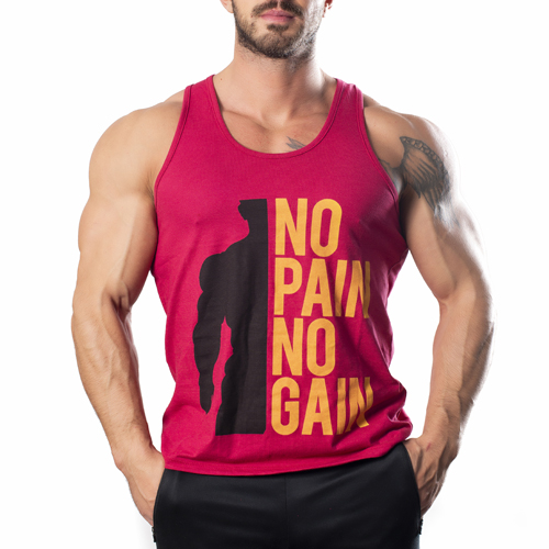 No Pain No Gain Tank Top Atlet Gül Kurusu
