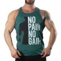 No Pain No Gain Tank Top Atlet Yeşil