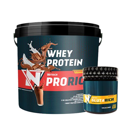 Nutrich Prorich Whey Protein 3500 Gr + Nutrich Glutarich 200 Gr