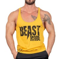 Beast Mode İnce Askı Tank Top Atlet Sarı