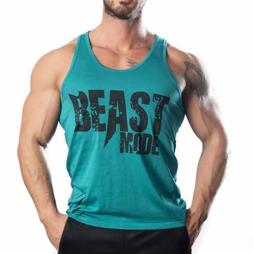 Beast Mode Tank Top Atlet Turkuaz