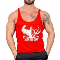 Fitness Gym İnce Askı Tank Top Atlet Kırmızı