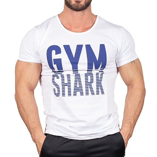 Gym Shark T-Shirt Beyaz