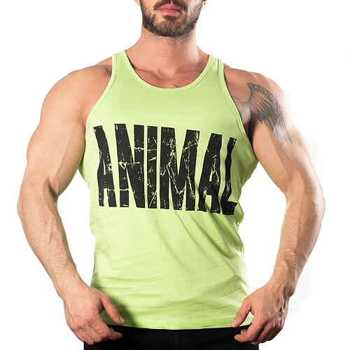 Animal Tank Top Atlet Sarı