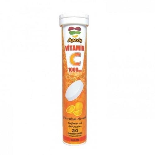 Apexis Vitamin C 1000 Mg Efervesan 20 Tablet
