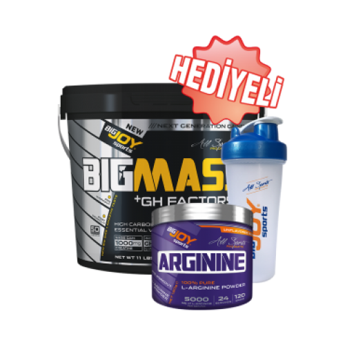 Big Joy Big Mass GH Factors 5000 Gr + Arginine 120 Gr + Shaker Kombinasyonu