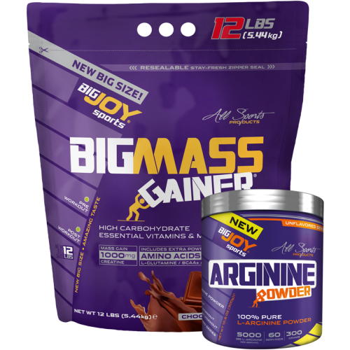 Big Joy Big Mass 5440 Gr + 100 % Pure L-Arginine Powder 300 Gr