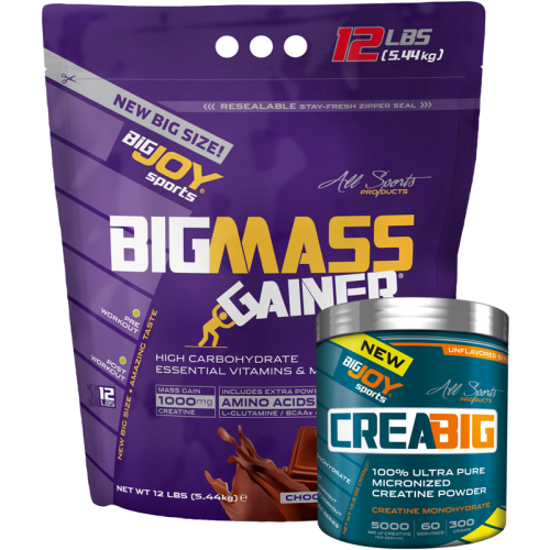 Big Joy Big Mass 5440 Gr + Crea Big Micronized Creatine Powder 300 Gr