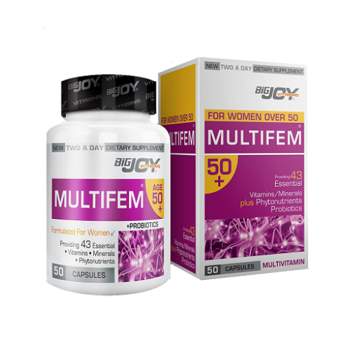 Big Joy Multifem 50+ Multivitamin 50 Kapsul