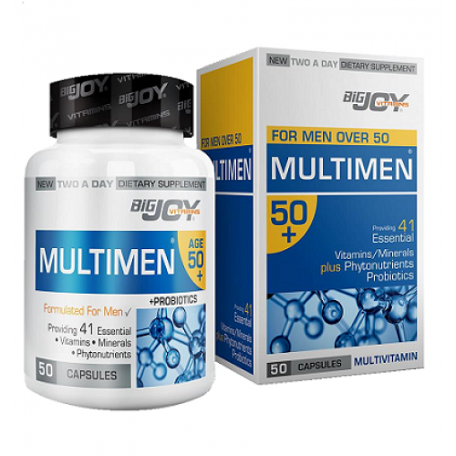 Big Joy Multimen 50+ Multivitamin 50 Kapsül