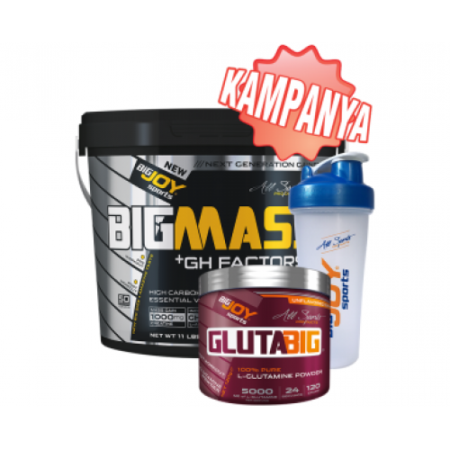 Big Joy Big Mass GH Factors 5000 Gr + Gluta Big 120 Gr + Shaker Kombinasyonu