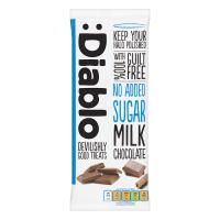 Diablo Şekersiz Sütlü Çikolata 85 Gr
