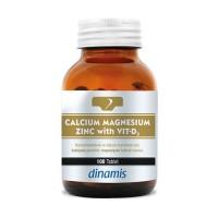 Dinamis Kalsiyum Magnezyum Çinko ve Vitamin D3 100 Tablet