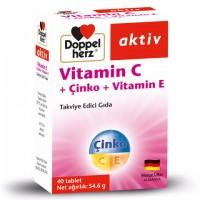Doppelherz Vitamin C+Çinko+Vitamin E 40 Tablet