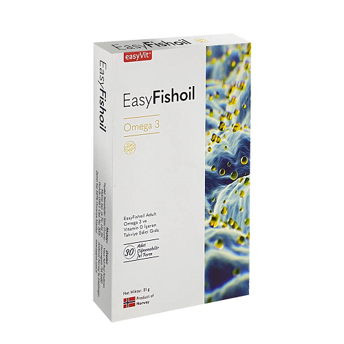Easyvit Easy Fish Oil Yetişkin Omega 3 30 Jel Tablet