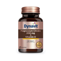 Dynavit Magnesium Citrate 200 Mg & Vitamin D 60 Tablet