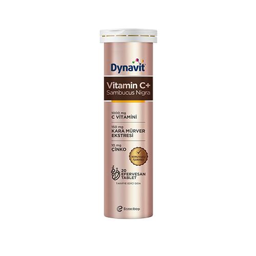 Dynavit Vitamin C 1000 Mg + Sambucus Nigra Efervesan 20 Tablet