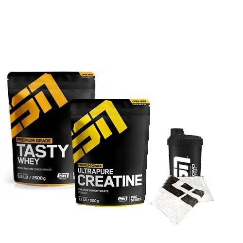 ESN Tasty Whey 2500 Gr + ESN Creatine Monohydrate 500 Gr