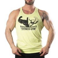 Fitness Gym Tank Top Atlet Sarı