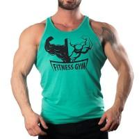 Fitness Gym Tank Top Atlet Turkuaz