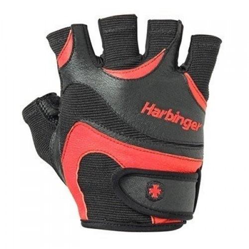 Harbinger Mens Flexfit W&D Fitness Eldiven Siyah ve Kırmızı