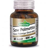 Herbina Saw Palmetto Cüce Palmiye Ekstraktı 60 Kapsül