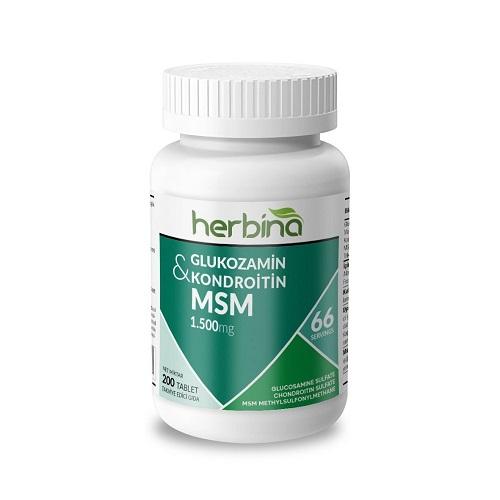 Herbina Glukozamin Kondroitin MSM 1500 Mg 200 Tablet