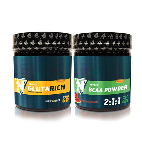 Nutrich Glutarich 200 gr + Bcaa Powder 210 gr Karpuz