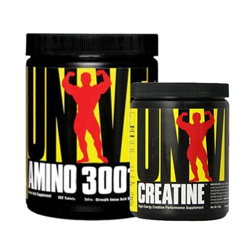 Universal Amino 3001 160 Tablet + Creatine Powder 120 Gr Kombinasyonu