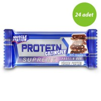 Muscle Station Crunchy Supreme Protein Bar 40 Gr 24 Adet