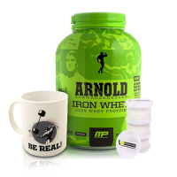 Musclepharm Arnold Series Iron Whey 2267 Gr + Arnold Be Real Kupa + Toz Saklama Kabı