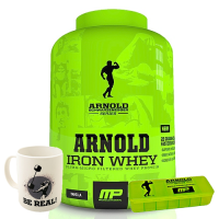 Musclepharm Arnold Series Iron Whey 2267 Gr + Arnold Be Real Kupa + Arnold Pillbox