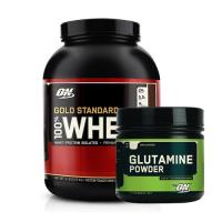 Optimum Gold Standard Whey 2273 Gr + Optimum Glutamine 630 Gr