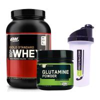 Optimum Gold Standard Whey 908 Gr + Glutamine Powder 630 Gr + Shaker Kombinasyonu