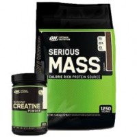 Optimum Serious Mass 5450 Gr + Micronized Creatine 317 Gr