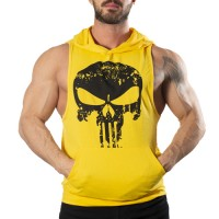 Punisher Kapüşonlu Tank Top Sarı Atlet