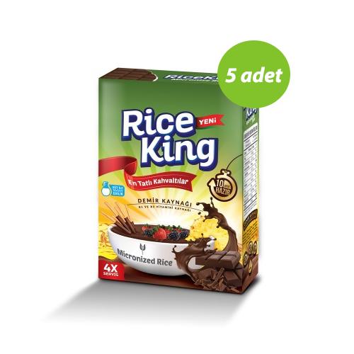 5x Rice King Çikolatalı Mikronize Pirinç 433 Gr