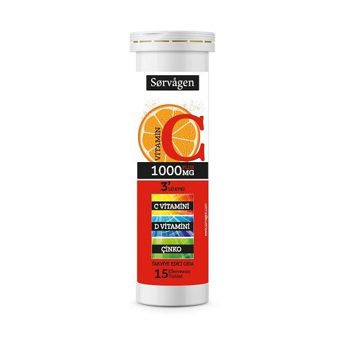 Sorvagen Vitamin C Plus 1000 mg 15 Efervesan Tablet