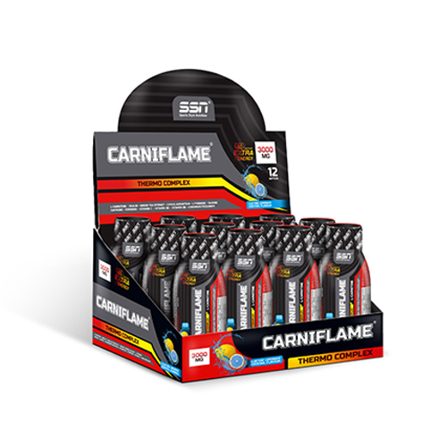 SSN Carniflame 3000 mg 12 Ampul Energy