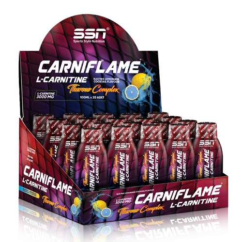 SSN Carniflame 3000 mg 20 Ampul Energy