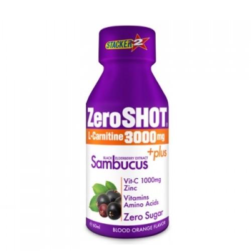 Zero Shot 60 ML 3000Mg L-Carnitine + Plus Sambucus