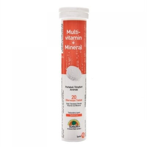 Sunlife Multivitamin + Mineral Efervesan 20 Tablet