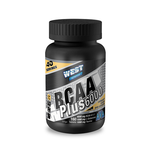 West Nutrition BCAA 6000 Plus Glutamin Taurin 160 Tablet